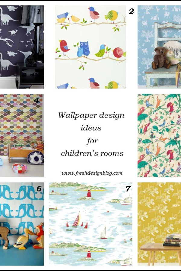 Fresh Design Ideas: Wallpaper for decorating children's rooms