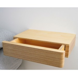 Fresh contemporary creative design floating wall shelf drawer