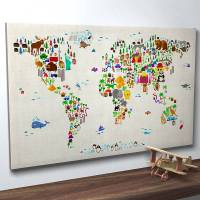 Creative design world map art prints by artPause | Fresh ...