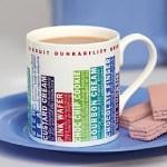 Biscuit dunkability design china mug