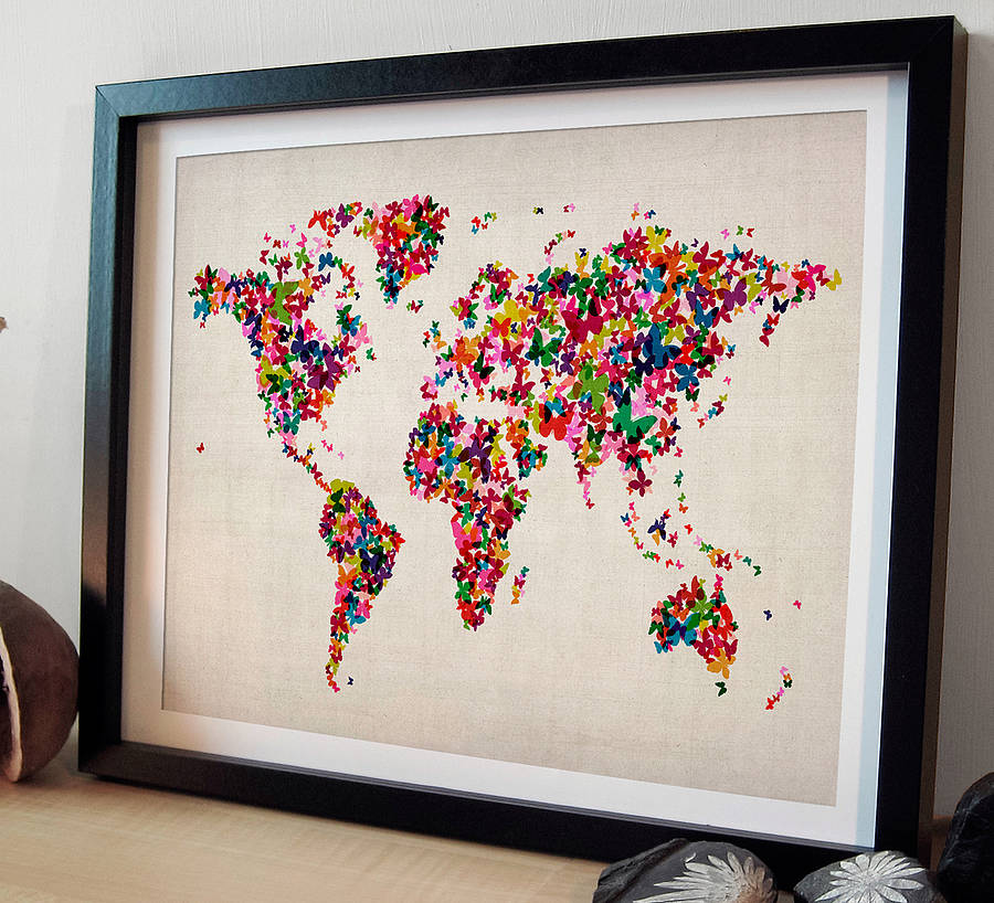 Ideal Creative fresh design world map prints