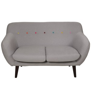Retro designer contemporary colourful sofa
