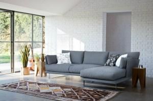 Contemporary modern corner sofa