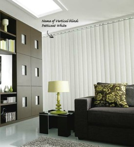 Vertical blinds for a contemporary living room