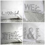 Fresh design bedroom linen: Quote design pillowcases