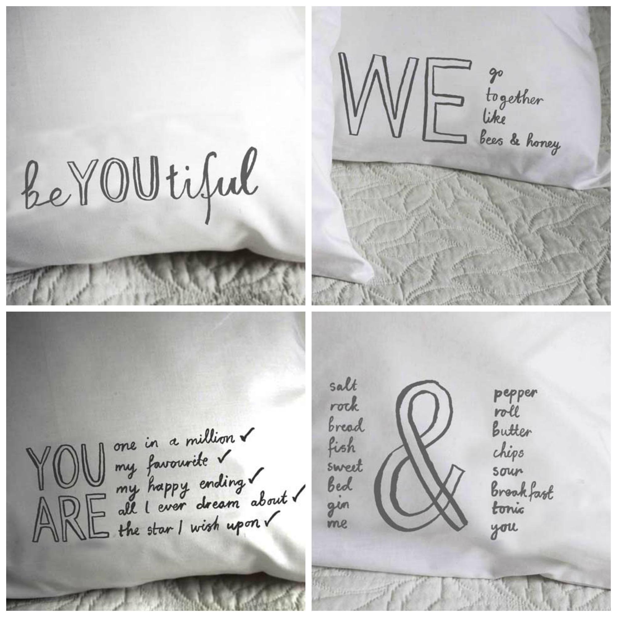 Fresh design bedroom linen quote design pillowcases for Fresh design blog