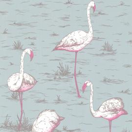 Best pink flamingo design wallpaper