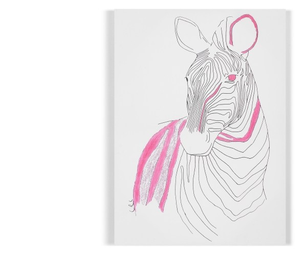 Catherine Cazalet zebra design limited edition art