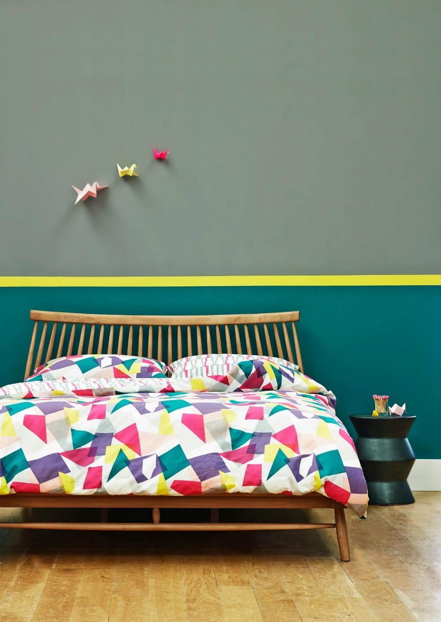 Contemporary graphical and geometric home interiors for Fresh design blog