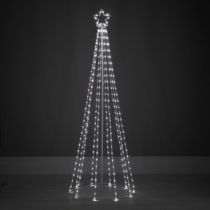 Contemporary outdoor Christmas light decorations