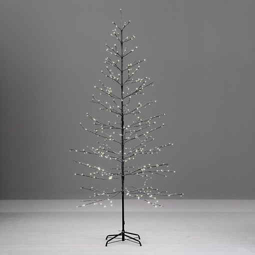 Large minimalist contemporary twig outdoor Christmas tree