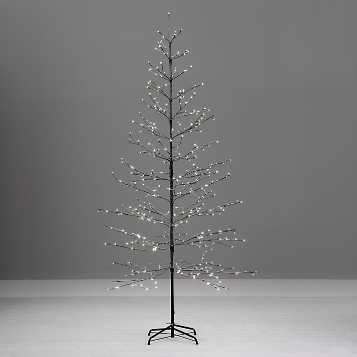 large minimalist contemporary twig outdoor christmas tree - White Twig Christmas Tree
