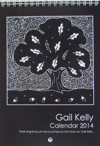 Linocut tree prints
