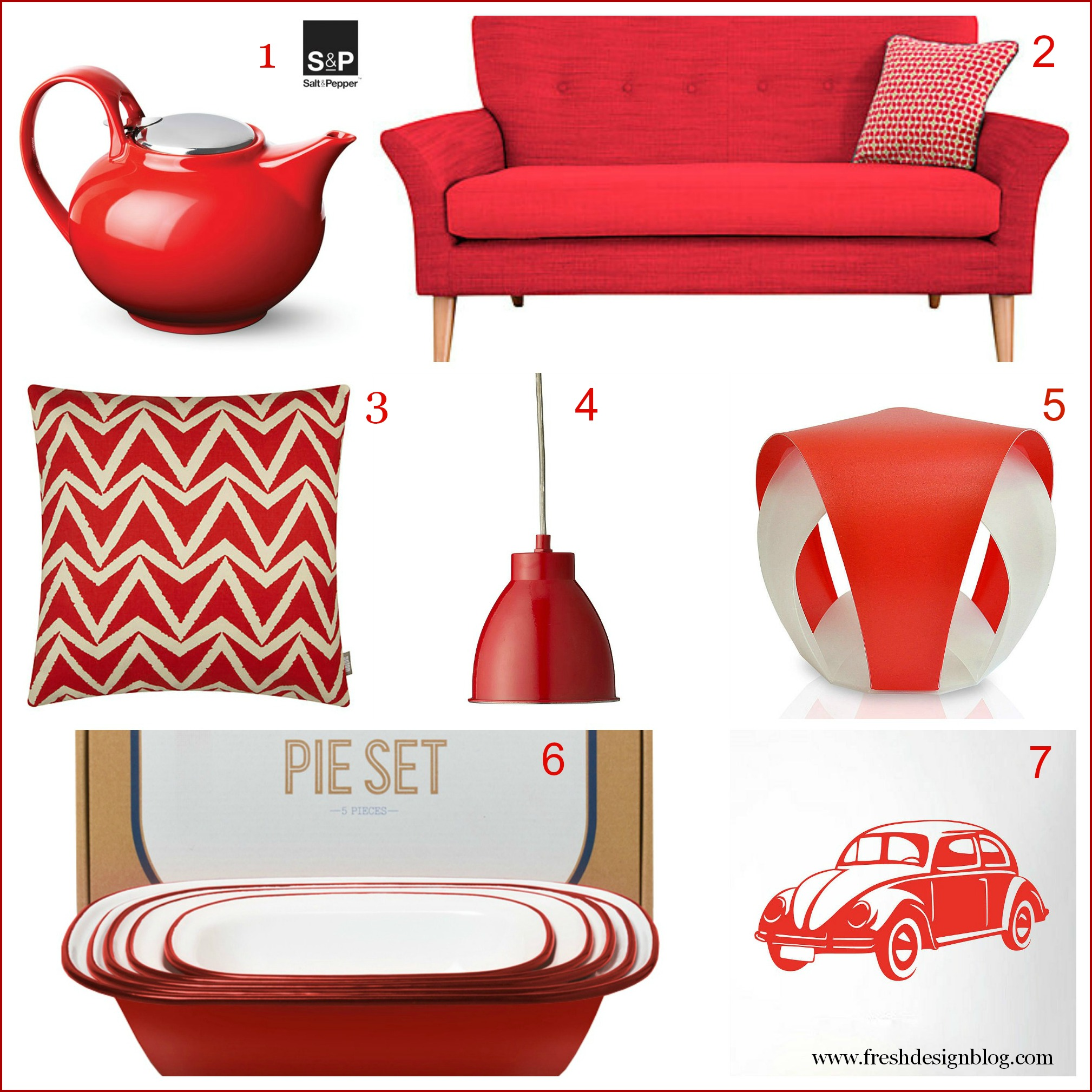 Fresh Colour Add A Passionate Spark Of Red Into Your Home Fresh Design Blog