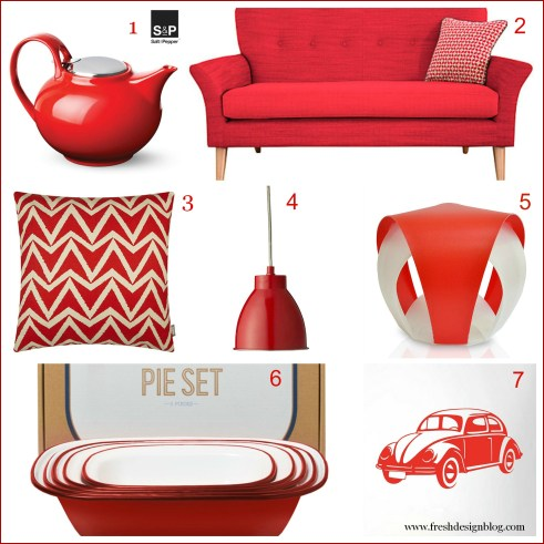 Fresh design red home accessories