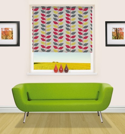 Contemporary patterned roller blind