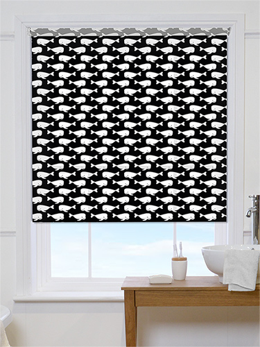 Fresh window treatments: Patterned roller blinds