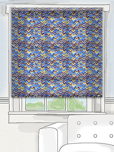Tuiss patterned roller blind