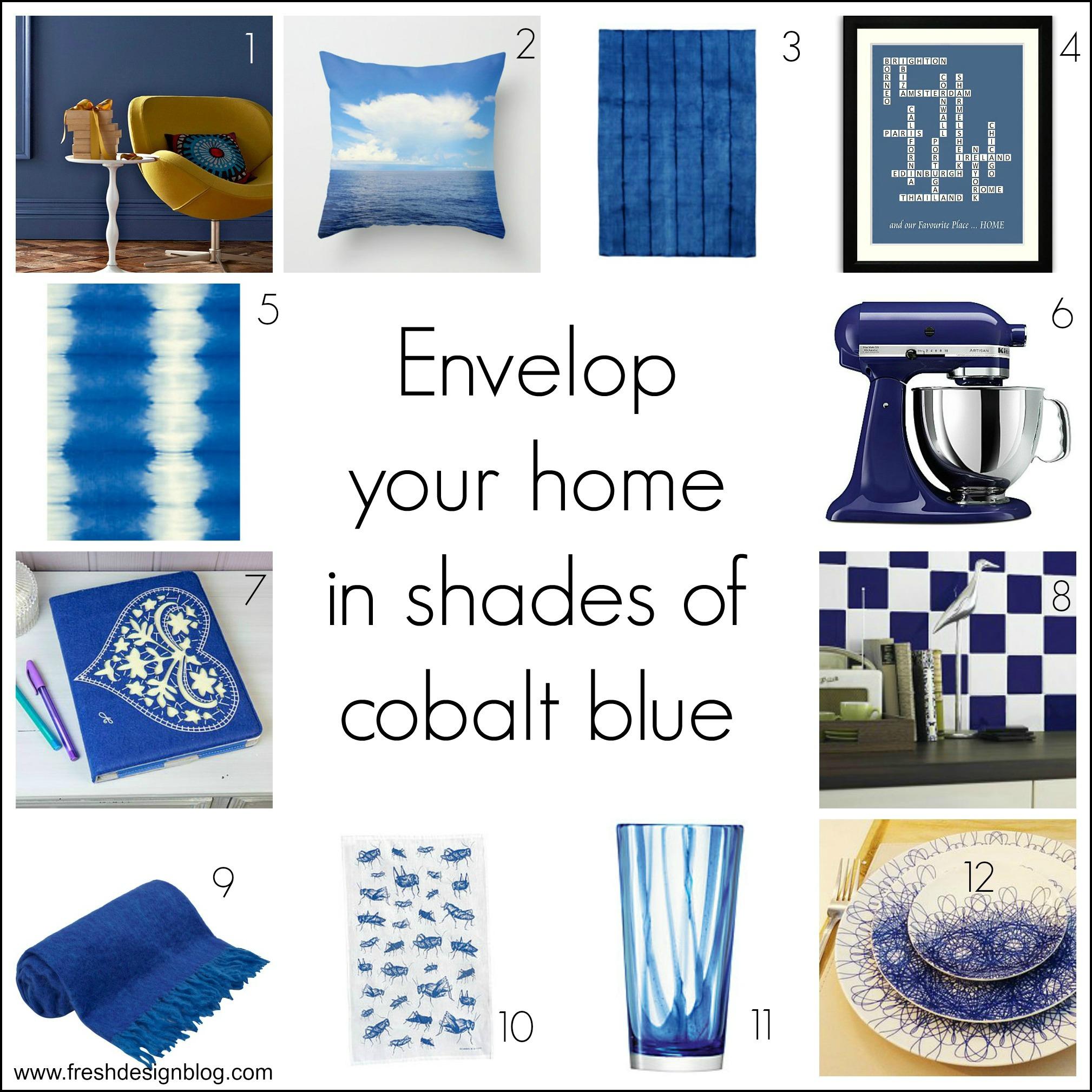 Fresh design colour cobalt blue home decor ideas fresh Blue home decor