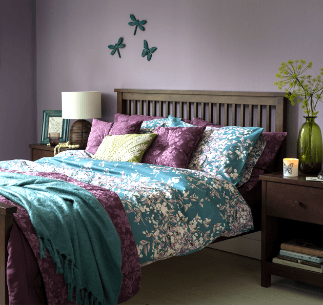 Sainsbury's botanical gardens bedroom scheme