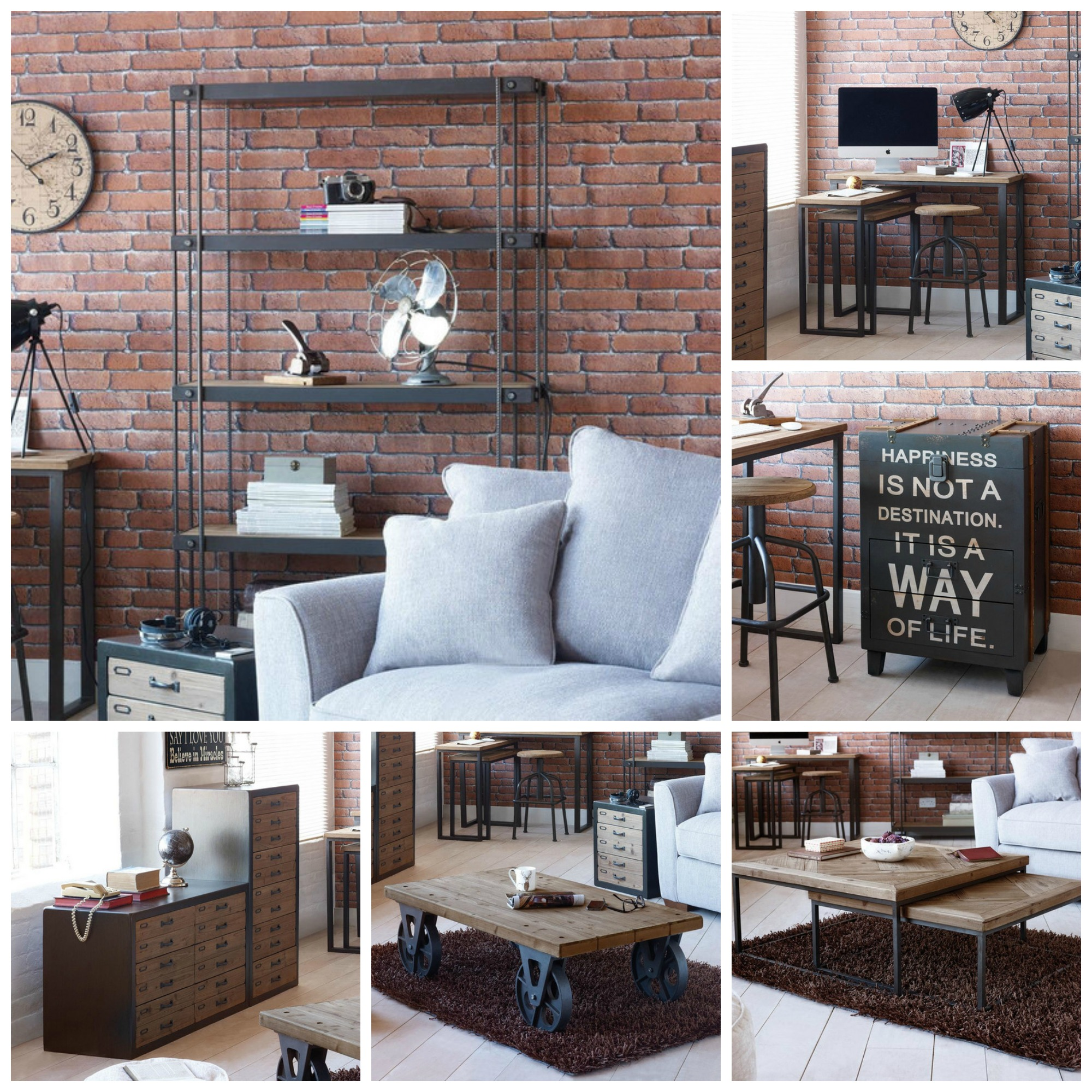 The Collection Furniture: Spitalfields Industrial Rustic Living Room Furniture