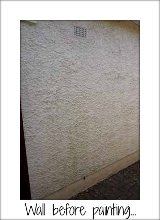 exterior house wall before painting sandtex paint. Black Bedroom Furniture Sets. Home Design Ideas