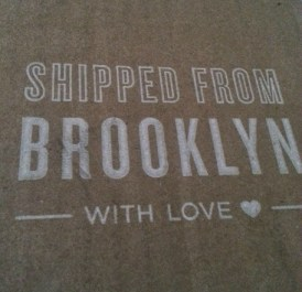 Parcel received by fresh design blog from Uncommon Goods
