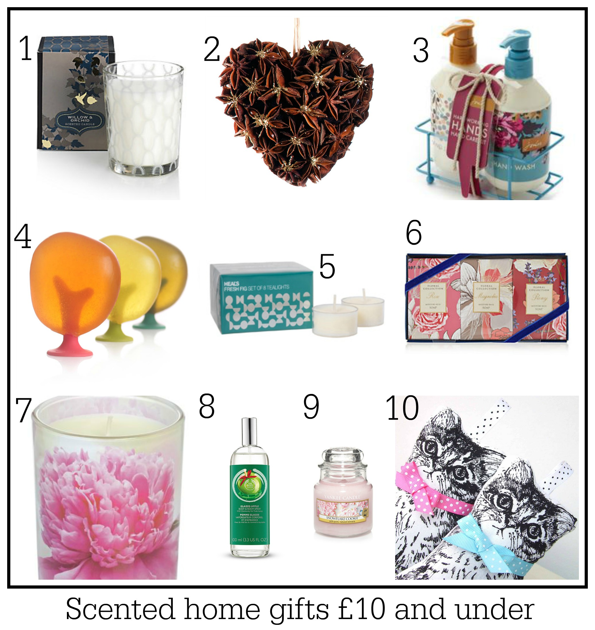 10 Scented home gift ideas: All priced £10 and under ~ Fresh Design Blog
