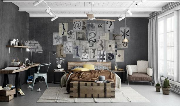 Typography creative wall collage by 1Wall