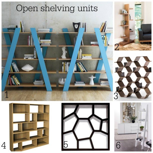 Fresh Design Blog features open shelving units