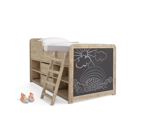 The Clamber Doodle cabin bed is one of the best cabin bed designs for kids - it even comes with a chalklboard for doodling on, perfect.