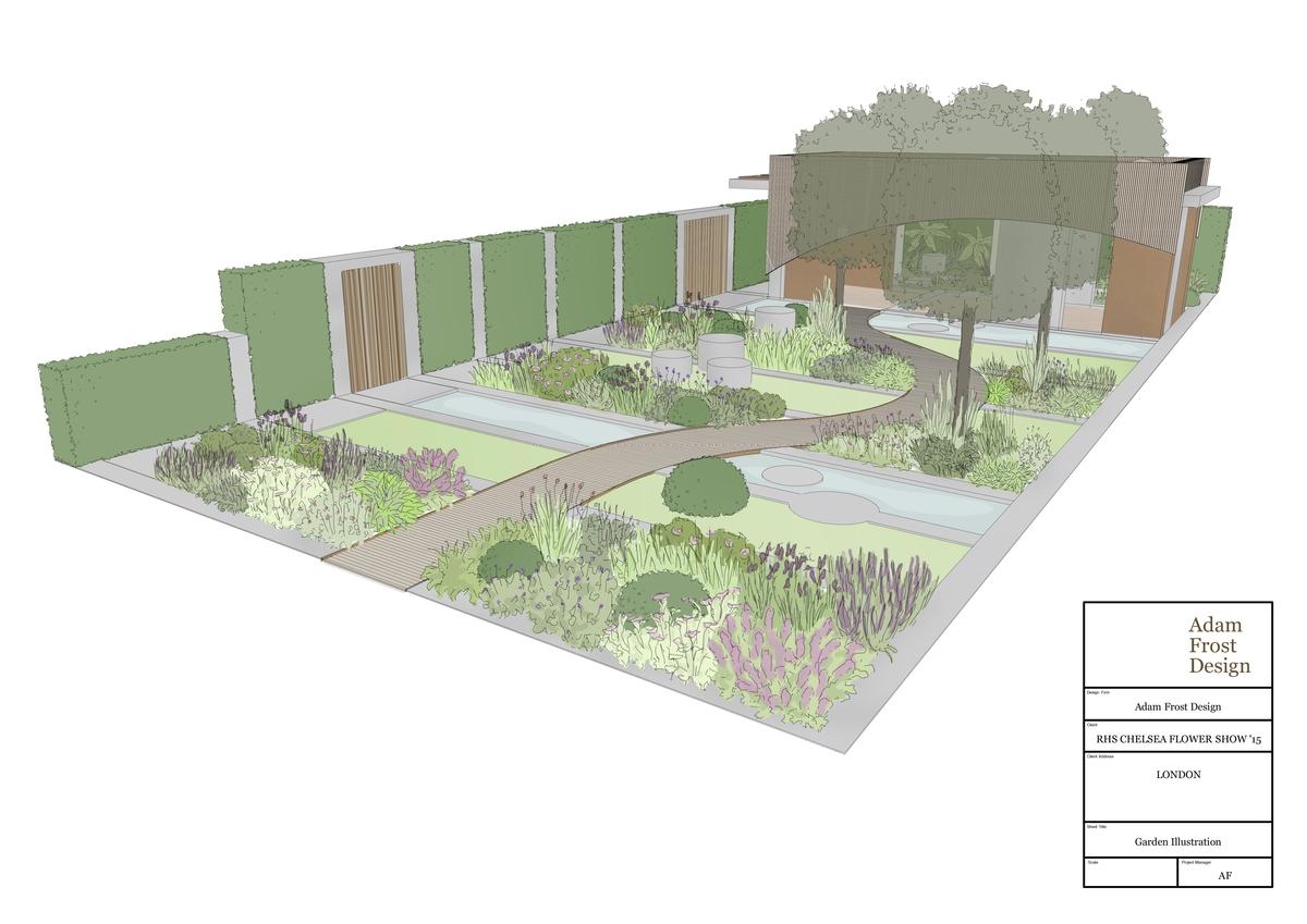 New RHS Chelsea The Homebase Urban Retreat show garden
