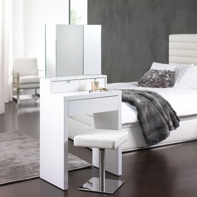 Compact space saving dressing table