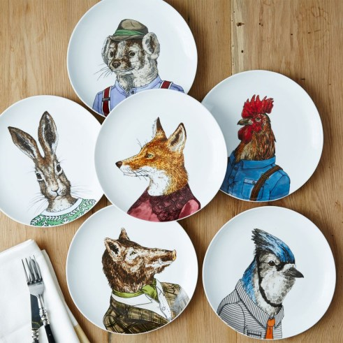 Forest friends animal plates