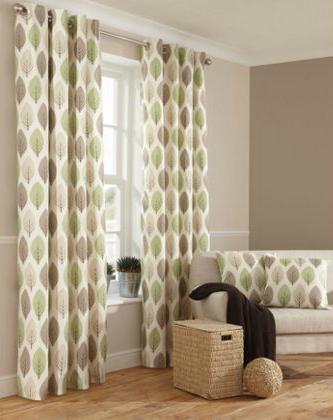 Cute Natural green leaf curtains