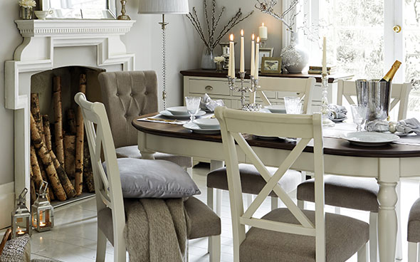 Elegant Emily Dining Table From Furniture Village