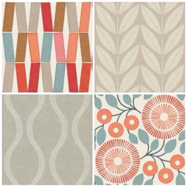 Contemporary Tandem wallpaper collection by Natasha Marshall