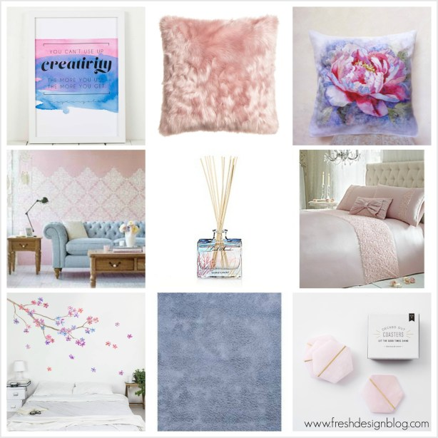 Homeware ideas inspired by Pantone's colours of the year 2016 ~ selected by Fresh Design Blog