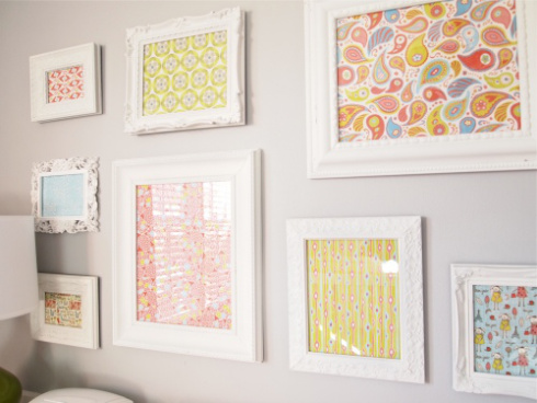 Great way to use all the wallpaper you love - frame it as art.