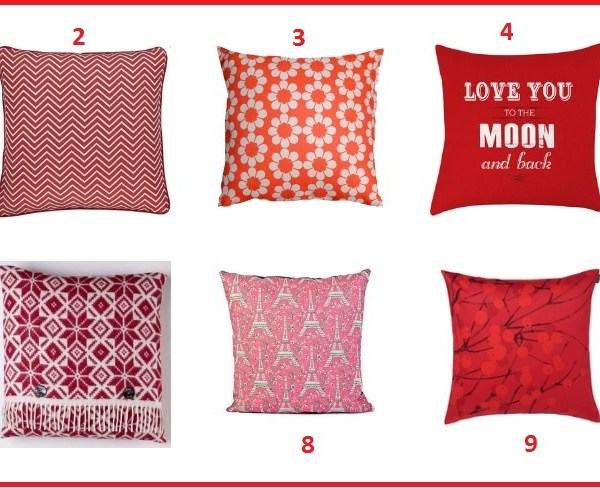 Red hot: 10 red cushions for Valentine's day