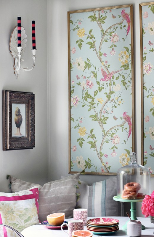These framed wallpaper panels look stunning - and they're easy to make.