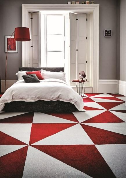 Triangle carpet tile flooring idea from Carpetright