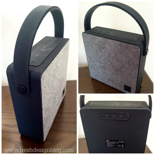 Love the contemporary look and style of this Flair design bluetooth music speaker by KitSound.
