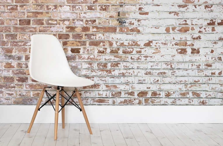 Create An Instant Brick Wall Effect, With This White Paint Bricks Mural. Part 98
