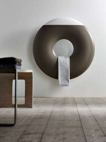 Love this donut shaped designer radiator, so unusual.