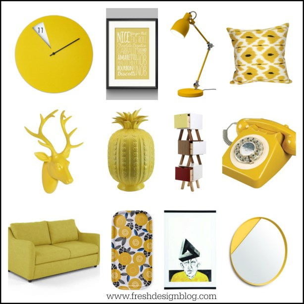 Looking for an accent colour? Yellow is the perfect uplifting hue for a contemporary home interior. Why not try some of these pieces?