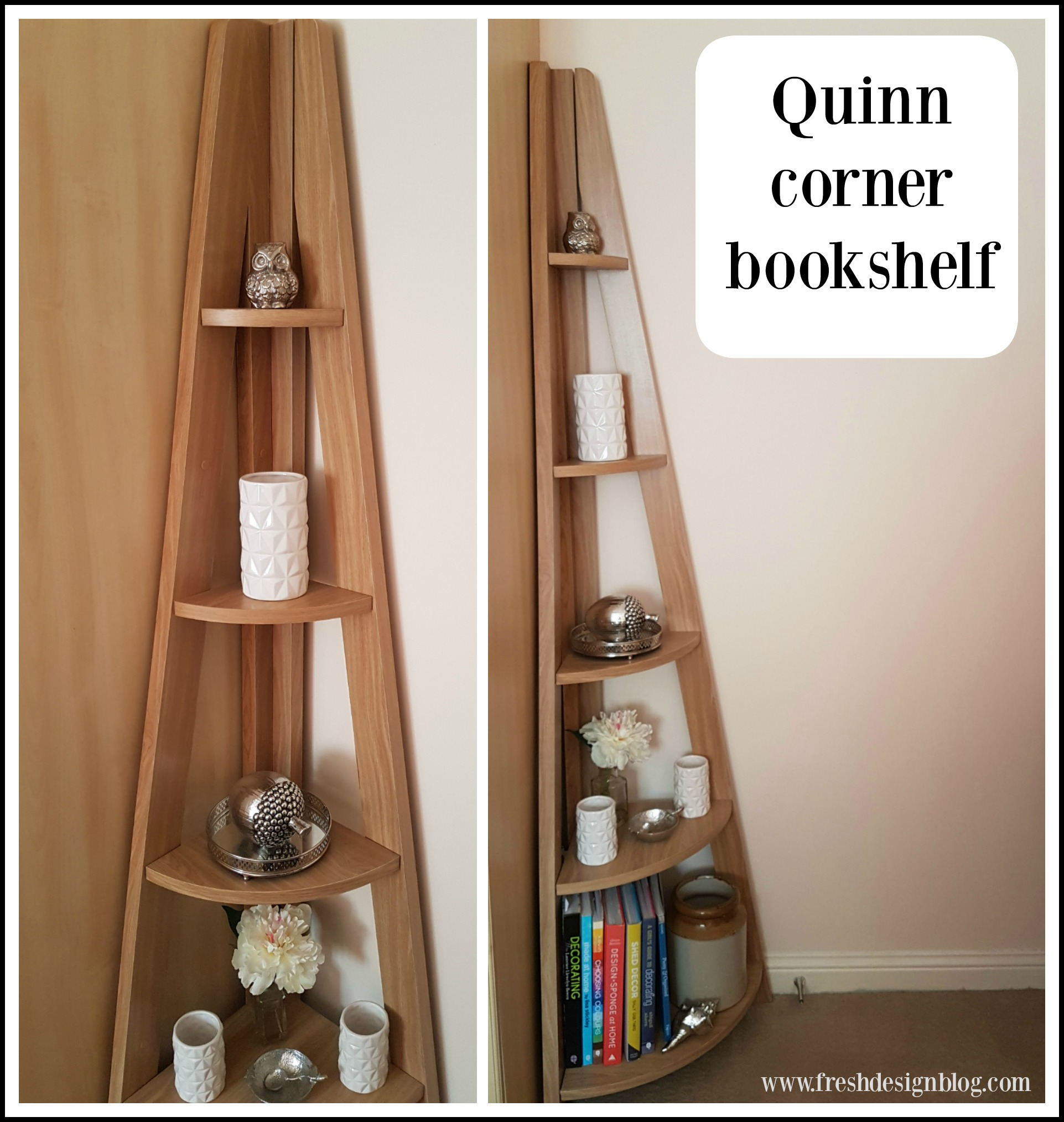 Modern Corner Ladder Style Bookcase  Perfect To Store Books Or Display  Accessories