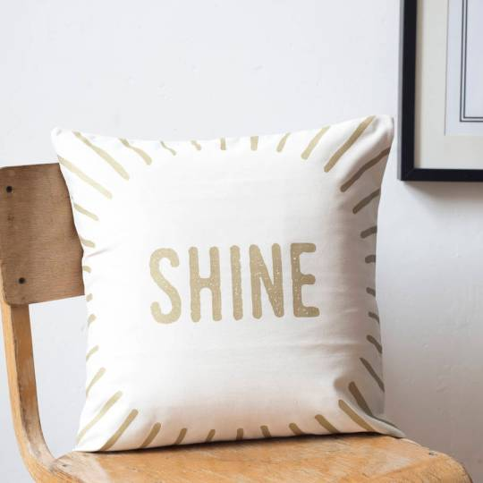 Update your cushions with a new metallic cushion cover - love this shine one