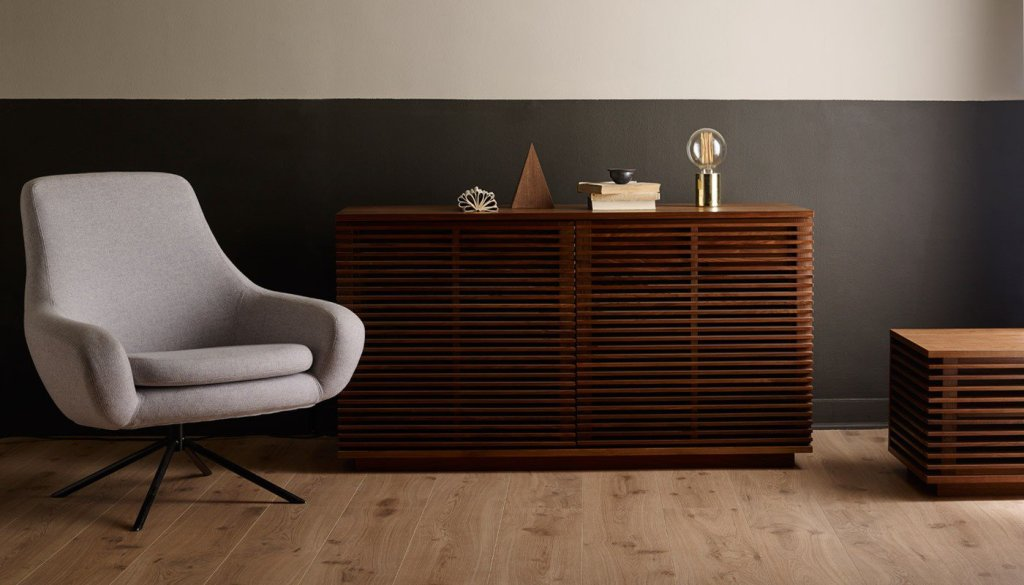 Contemporary designer sideboard for a stylish way to store media units