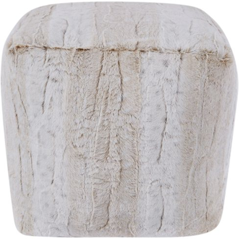This is so useful as an occasional seat - it's a faux fur cream pouf, and it's very affordable too. Win win!